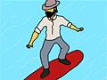 Бородатый парень - серфингист