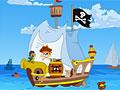 Пиратский корабль - найдите различия