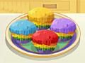 Кухня Сары: радужные капкейки