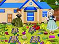 Холодное сердце: уборка в саду