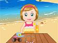 Малышка Мелиса на пляже