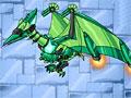 Роботы динозавры: Зеленый Птеродактиль