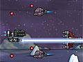 Фиолетовый космический корабль