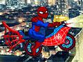 Человек-паук на мотоцикле