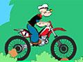 Моряк Папай на мотоцикле