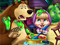 Маша и Медведь на кухне