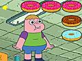 Кларенс поедает пончики