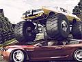 Прыжки грузовика-монстра
