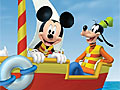 Микки Маус в лодке пазл