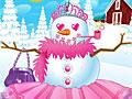 Стильная девочка-снеговик