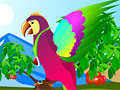 Создайте милого попугая