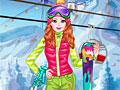 Девушка на лыжах