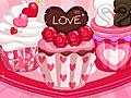 Сладкие кексы-валентинки
