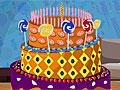 Праздничный конфетный торт