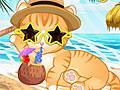 Кошка на летнем отдыхе