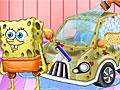 Спанч Боб на автомойке