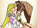 Принцесса Рапунцель раскраска