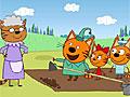 Три кота на огороде пазл