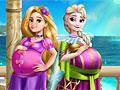 Принцессы Диснея: Беременные Эльза и Рапунцель